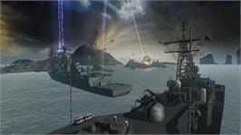 In game image of Battleship on the Microsoft Xbox 360.