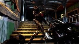 In game image of BioShock 2 on the Microsoft Xbox 360.