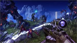 In game image of Borderlands 2 on the Microsoft Xbox 360.