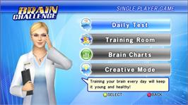 In game image of Brain Challenge on the Microsoft Xbox 360.