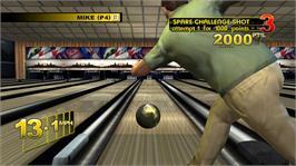 In game image of Brunswick Pro Bowling on the Microsoft Xbox 360.