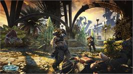 In game image of Bulletstorm on the Microsoft Xbox 360.