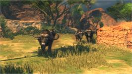In game image of Cabela's Hunting Party on the Microsoft Xbox 360.