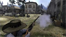 In game image of Call of Juarez on the Microsoft Xbox 360.