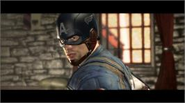 In game image of Captain America: Super Soldier on the Microsoft Xbox 360.