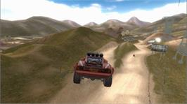 In game image of Cars: Race-O-Rama on the Microsoft Xbox 360.