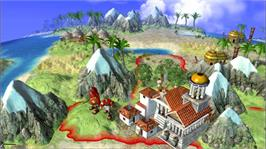 In game image of Civilization Revolution on the Microsoft Xbox 360.