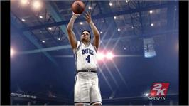In game image of College Hoops 2K7 on the Microsoft Xbox 360.