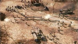 In game image of Command and Conquer 3 on the Microsoft Xbox 360.