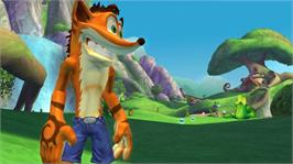 In game image of Crash Mind Over Mutant on the Microsoft Xbox 360.