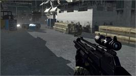 In game image of Crysis on the Microsoft Xbox 360.
