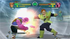 In game image of DBZ Budokai HD Collection on the Microsoft Xbox 360.