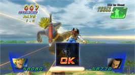 In game image of DBZ for Kinect on the Microsoft Xbox 360.