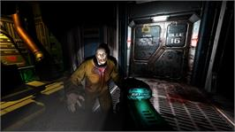 In game image of DOOM 3 BFG Edition on the Microsoft Xbox 360.
