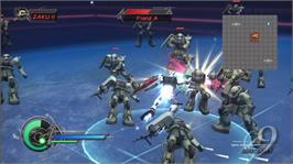In game image of DW: GUNDAM 2 on the Microsoft Xbox 360.