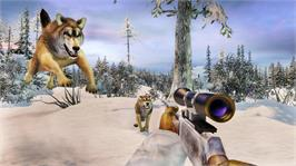 In game image of Dangerous Hunts 2009 on the Microsoft Xbox 360.