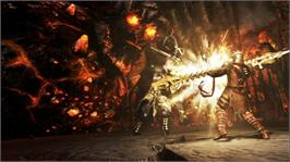 In game image of Dante's Inferno on the Microsoft Xbox 360.