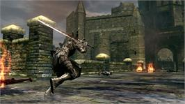 In game image of Dark Souls on the Microsoft Xbox 360.