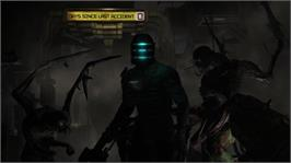 In game image of Dead Space on the Microsoft Xbox 360.