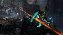 In game image of Dead Space  3 on the Microsoft Xbox 360.