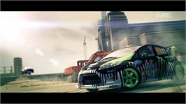 In game image of DiRT 3 on the Microsoft Xbox 360.