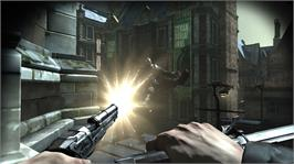 In game image of Dishonored on the Microsoft Xbox 360.