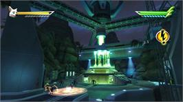 In game image of Disney Bolt on the Microsoft Xbox 360.