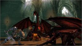 In game image of Dragon Age: Origins on the Microsoft Xbox 360.