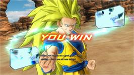 In game image of Dragon Ball Z UT on the Microsoft Xbox 360.