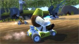 In game image of DreamWorks Kartz on the Microsoft Xbox 360.