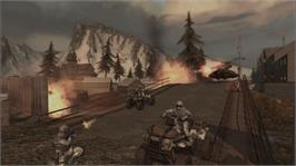 In game image of ET: QUAKE Wars on the Microsoft Xbox 360.