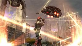 In game image of Earth Defense Force: IA on the Microsoft Xbox 360.