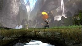 In game image of Eragon on the Microsoft Xbox 360.