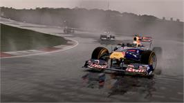 In game image of F1 2011 on the Microsoft Xbox 360.