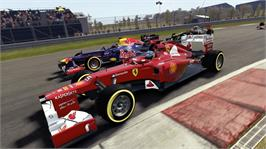 In game image of F1 2012 on the Microsoft Xbox 360.