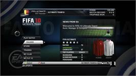In game image of FIFA 10 on the Microsoft Xbox 360.