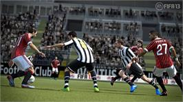 In game image of FIFA Soccer 13 Early Access on the Microsoft Xbox 360.