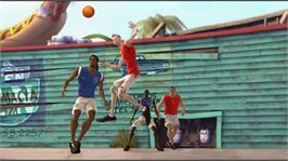 In game image of FIFA Street 3 on the Microsoft Xbox 360.