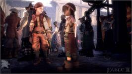 In game image of Fable II on the Microsoft Xbox 360.
