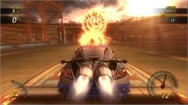 In game image of FlatOut UC on the Microsoft Xbox 360.