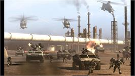 In game image of Frontlines:Fuel of War on the Microsoft Xbox 360.