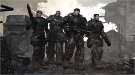 In game image of Gears of War on the Microsoft Xbox 360.