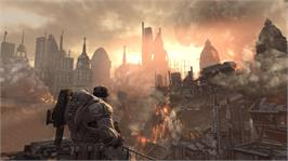 In game image of Gears of War 2 on the Microsoft Xbox 360.