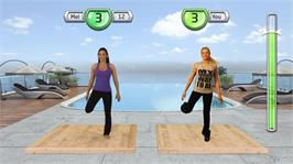 In game image of Get Fit With Mel B on the Microsoft Xbox 360.