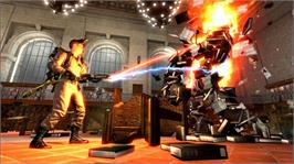 In game image of Ghostbusters on the Microsoft Xbox 360.