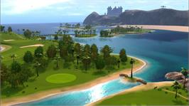 In game image of Golf: Tee It Up! on the Microsoft Xbox 360.