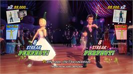 In game image of Grease Dance on the Microsoft Xbox 360.
