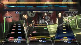 In game image of Green Day: Rock Band on the Microsoft Xbox 360.