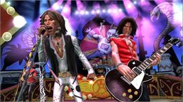 In game image of Guitar Hero: Aerosmith on the Microsoft Xbox 360.