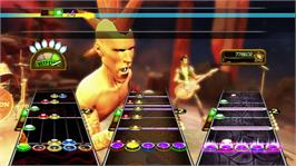 In game image of Guitar Hero Hits on the Microsoft Xbox 360.